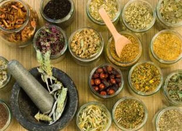 Ингредиенты для приготовления отваров и настоев