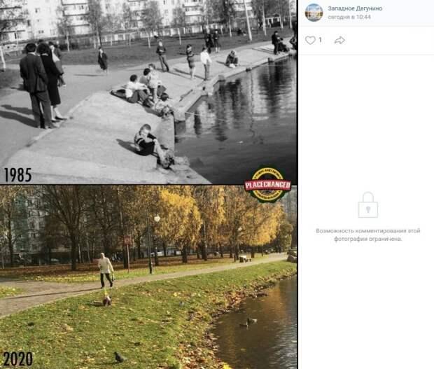 Фото дня: как изменились «Ангарские пруды»
