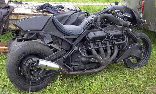 Супербыстрый мотоцикл авто, прикол, юмор