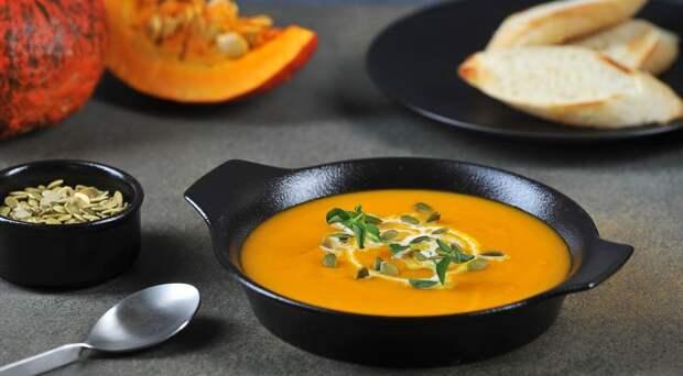 Готовим пряный тыквенный крем-суп