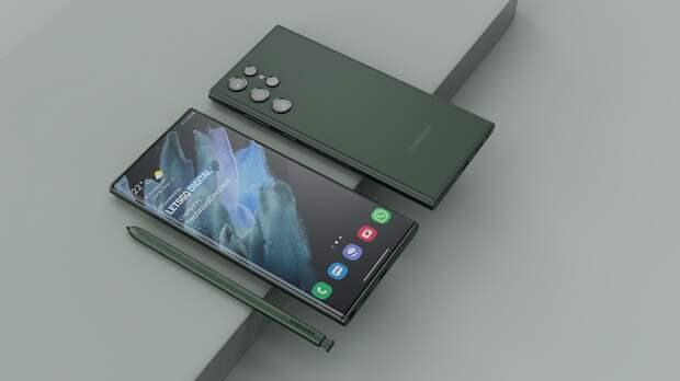 Samsung Galaxy S22 Ultra, который похож на следующий Galaxy Note, впервые показали в новом цвете
