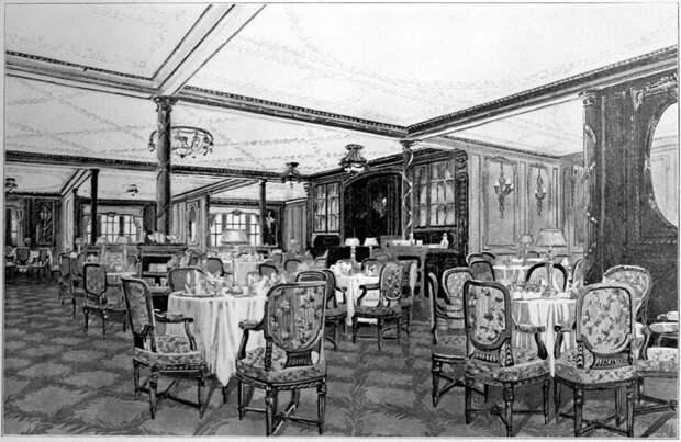 Ресторан «À La Carte» в кормовой части надстройки на палубе В