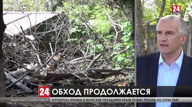 Глава Крыма посетил ещё несколько дворов Симферополя
