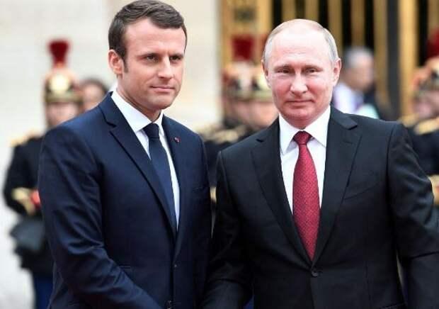 """Путин и Макрон обсудили Сирию и безальтернативность """"Минска"""""""
