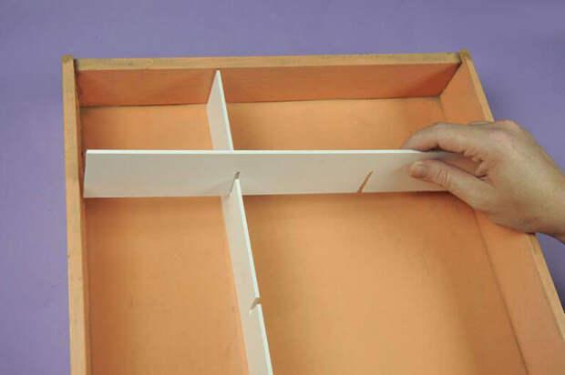 Как из плотного картона сделать органайзер в бельевой ящик
