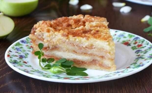 Яблочный пирог за 7 минут! Так быстро выпечку я еще не готовила