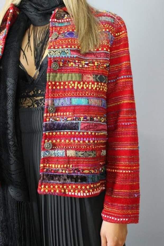 Домотканная курточка