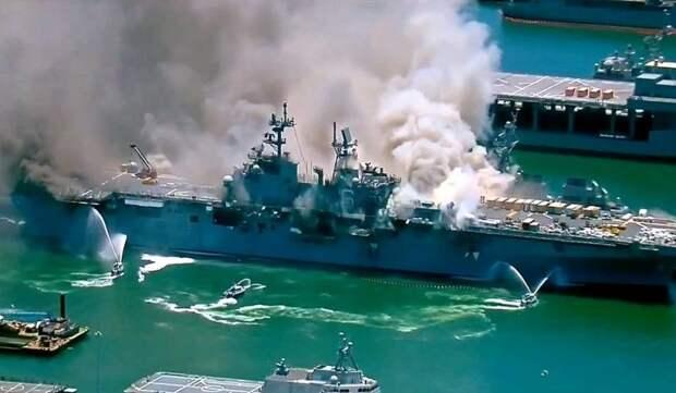 Forbes: Пожары на пирсах топят американский военный флот