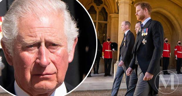 Принц Чарльз плачет на похоронах отца