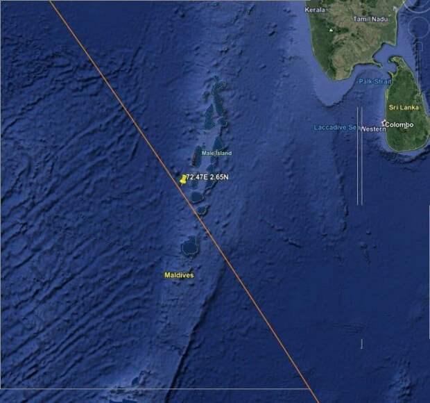 «Роскосмос» отследил падение неуправляемой китайской ракеты вИндийский океан
