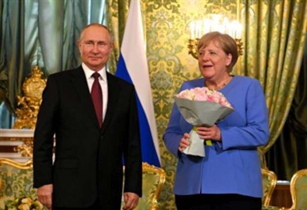 Встреча Меркель и Путина