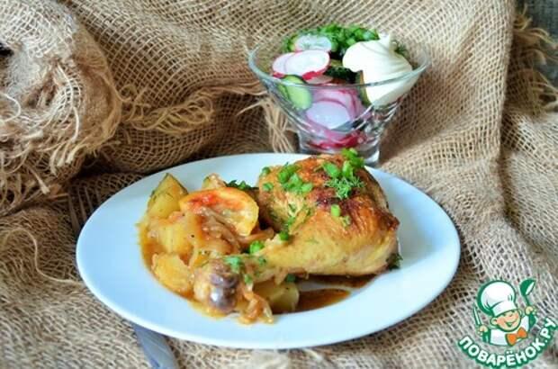 """Курица с картофелем """"Чайная церемония"""""""