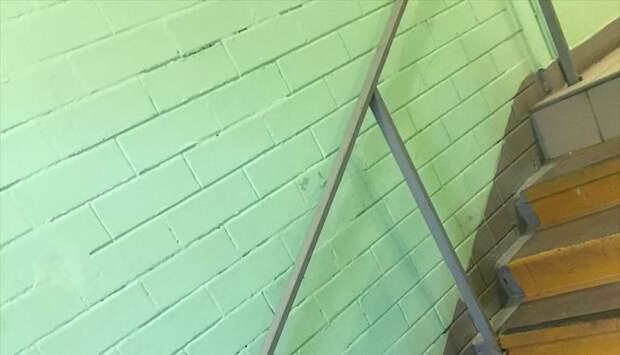 В подъезде дома на Чичерина отмыли стены