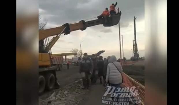 Нарушения техники безопасности заметили при строительстве моста вРостове