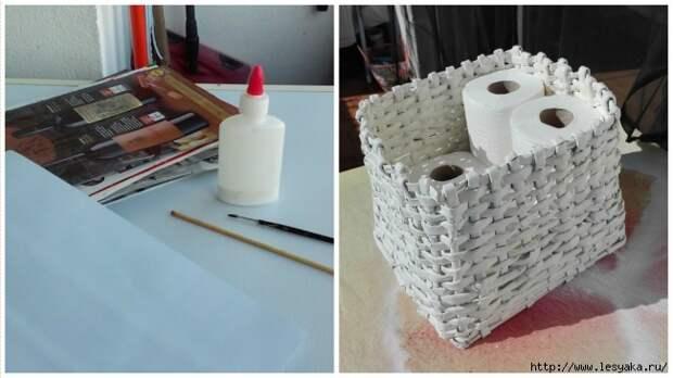 Мастер-класс по изготовлению корзинки из бумажных трубочек!