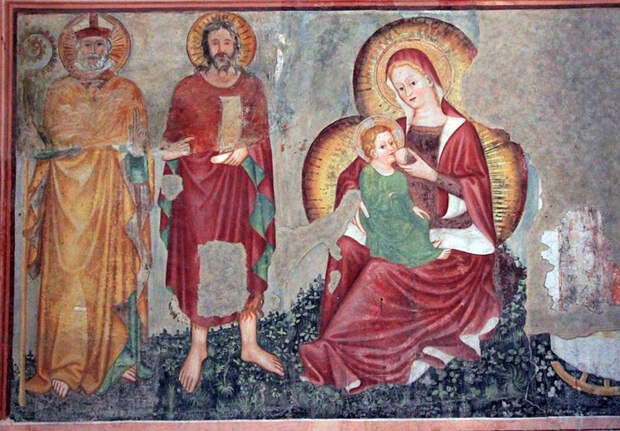 Фреска неизвестного художника в церкви Святого Николая в итальянском городе Тревизо.
