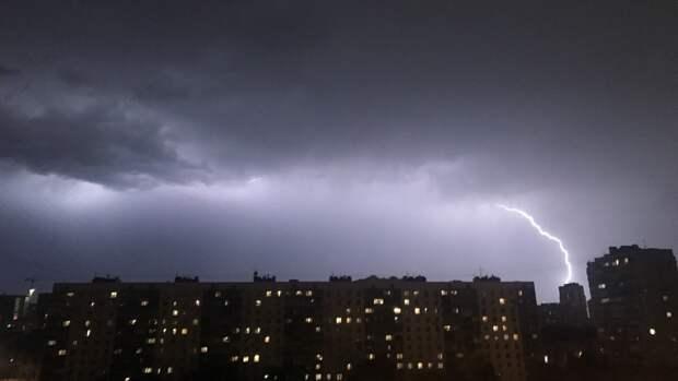 Москвичей предупредили о грозе и усилении ветра в ближайшие часы