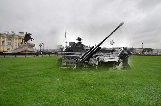 Ленинград 1942-2011 Сенатская площадь. Зенитная батарея блокада, ленинград, победа