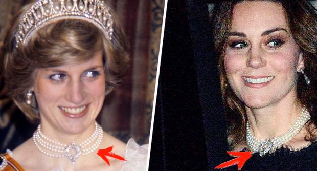 Кейт Миддлтон пришла на похороны принца Филиппа в украшениях Дианы