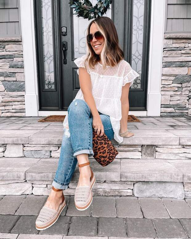 12 стильных примеров как носить блузку с коротким рукавом