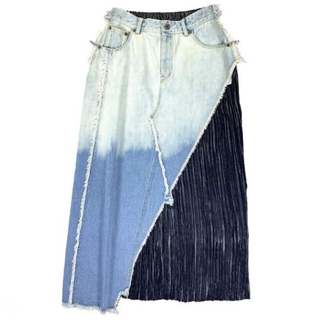 Еще одна юбка из джинсов
