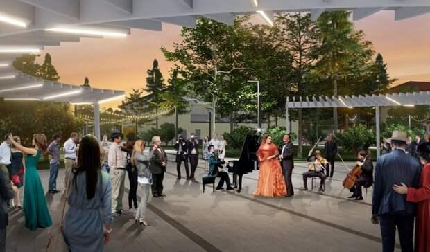 Минархитектуры Оренбуржья показало, каким будет сквер у областной филармонии