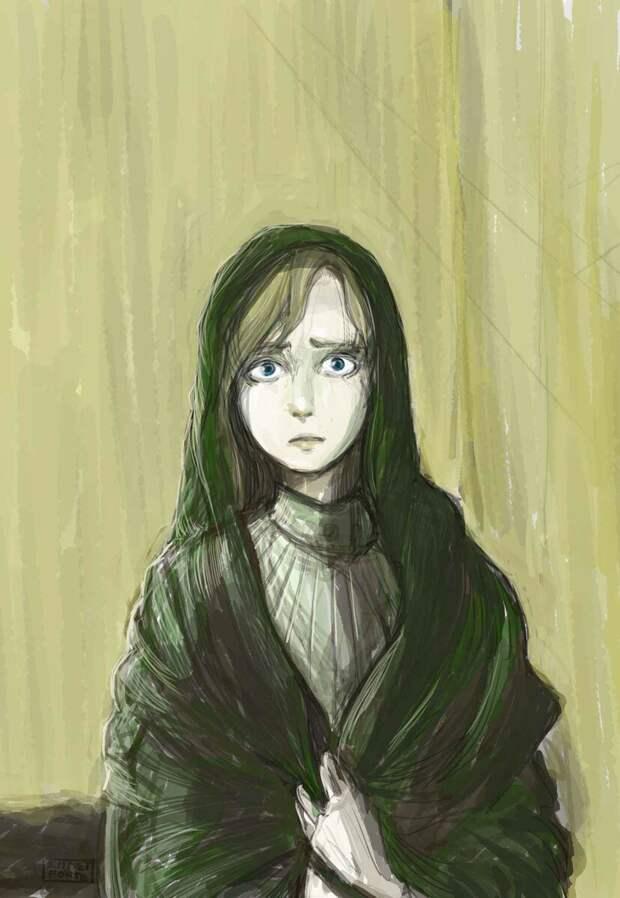 Из чего был сделан зеленый драдедамовый платок Сони Мармеладовой