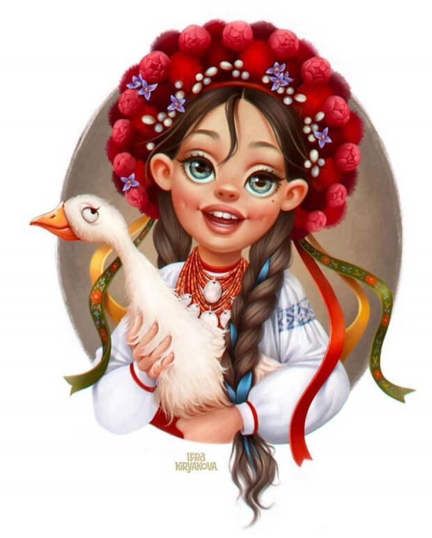 10 милых имультяшных красавиц совсего мира отхудожницы Леры Кирьяковой
