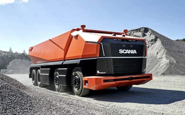 Без пилота и на газе: Scania показала транспортную систему будущего