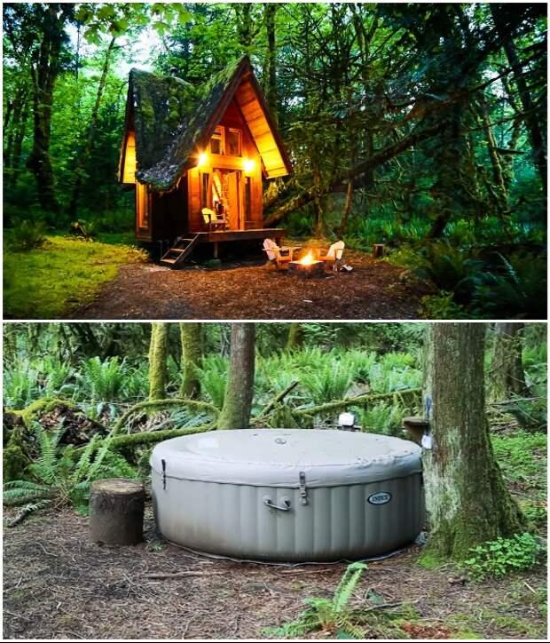 Американский художник воплотил детскую мечту и построил в лесу сказочный домик