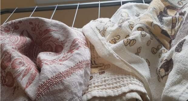 Эффективный способ отстирать самые сложные и старые пятна на кухонных полотенцах