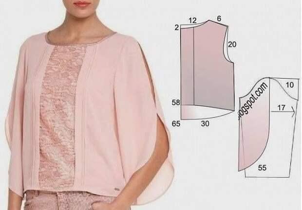 Выкройка универсальной блузы