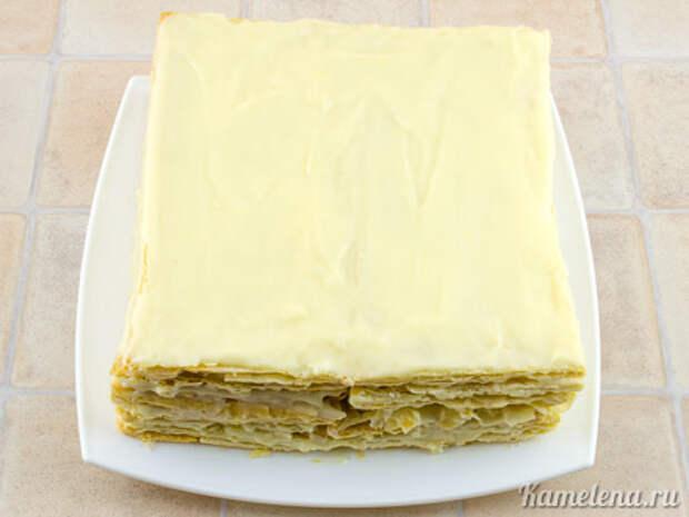 Торт «Наполеон» из слоеного теста — 11 шаг
