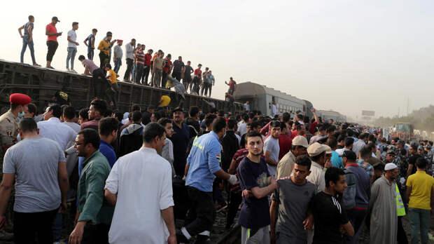 4-кратное превышение скорости стало причиной крушения поезда в Египте