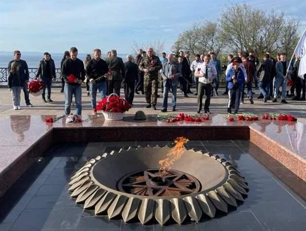 Ульяновские спортсмены почтили память Героев-фронтовиков. Видео