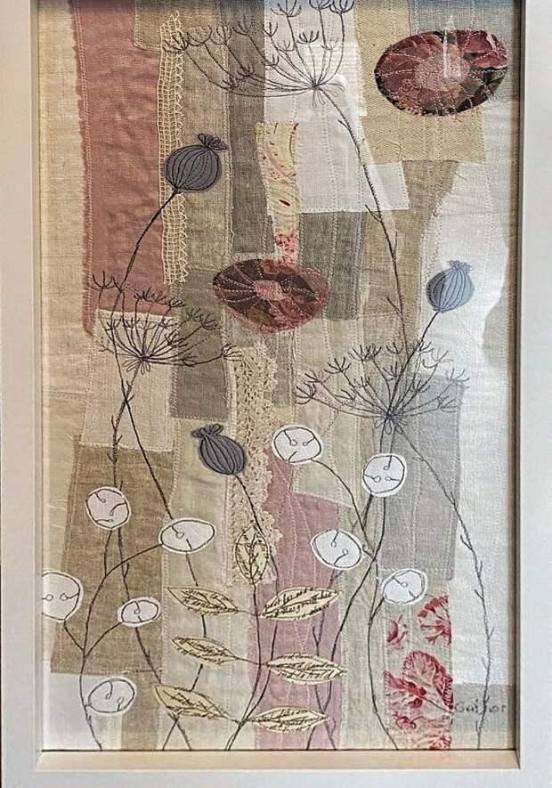 Текстильная аппликация, вышивка и рисунок