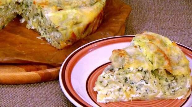 Пирог из лаваша с творожно-сырной начинкой: простой рецепт