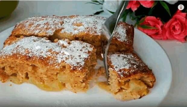Диетический пирог без пшеничной муки. Полезное лакомство с ароматными яблоками 2