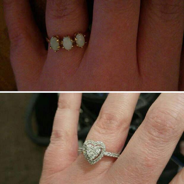 Он сделал предложение с помощью крошечного котенка, и это было невероятно мило Любовь, кольцо, котенок, отношения, пара, предложение