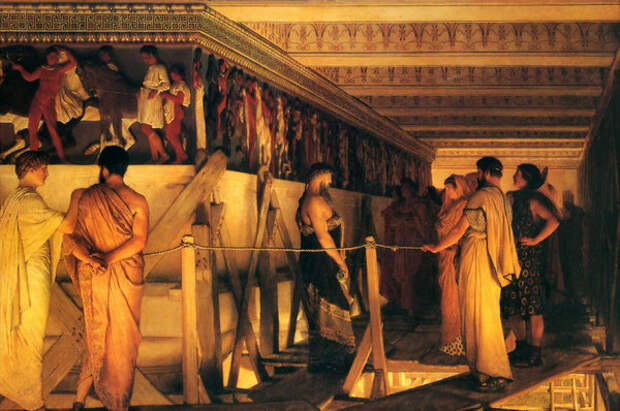 Фидий показывает фриз Парфенона своим друзьям. Лоуренс Альма-Тадема, 1868