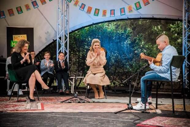 Королева Нидерландов Максима посетила серию концертов, устроенных в честь ее скорого 50-летия