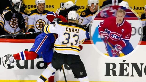 Легендарный гол русского хоккеиста Ковалева в Канаде. С него сбил шлем гигант Хара, но это не помогло