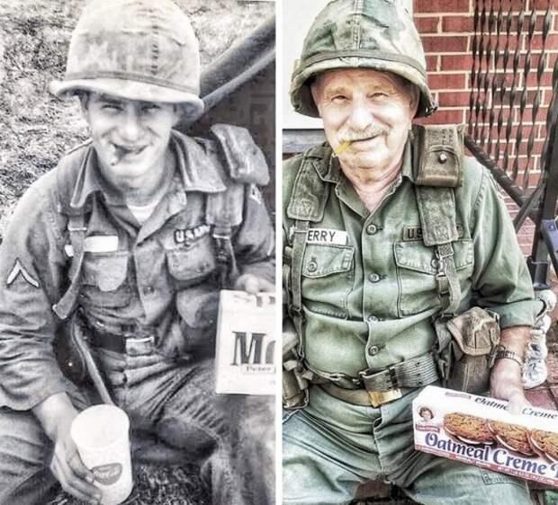 Ветеран вьетнамской войны  в 19 лет и сейчас