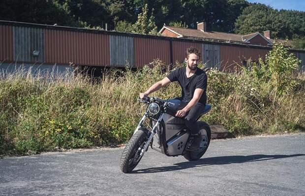 Новейший электронный мотоцикл для города.