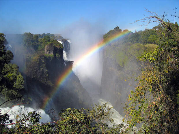 rainbow10 Радуга над самым большим водопадом в мире