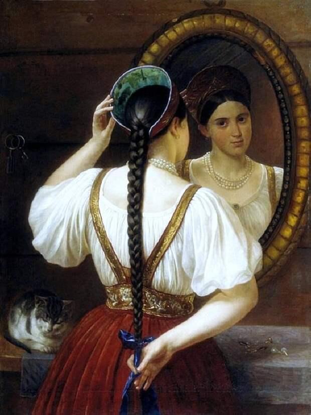 Филипп Будкин (1806-1850)     Девушка перед зеркалом