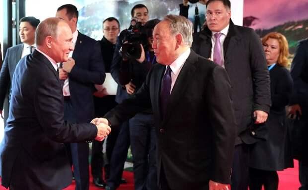 Путин и Назарбаев подписали план совместных действий