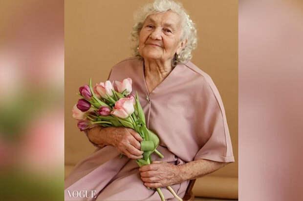 Победившая COVID-19 пенсионерка из Челябинска попала на страницы Vogue