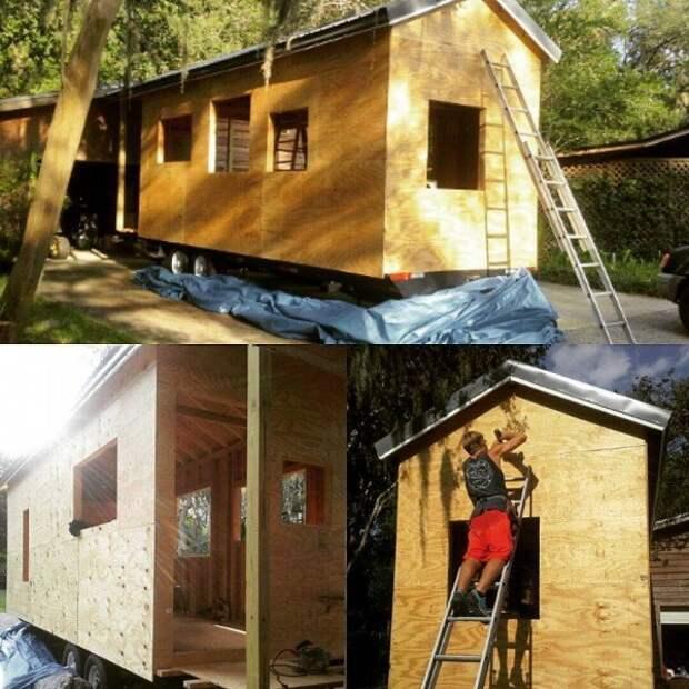 Студент не захотел жить в общежитии и построил домик за $14 000 Друзья., домик, жильё, постройка, своими руками, студент