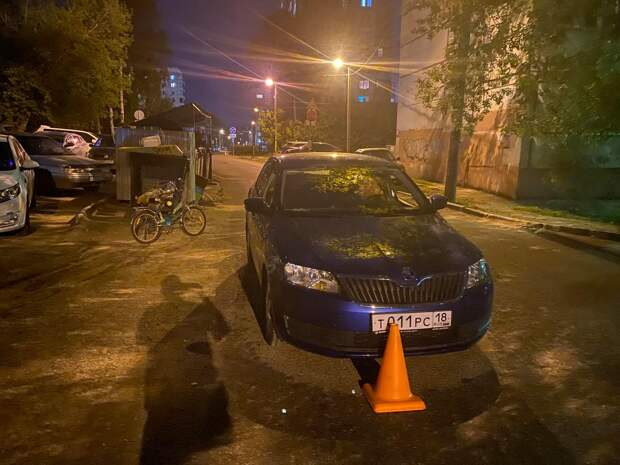 В Ижевске сбили двух детей-велосипедистов